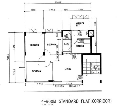 4 room flat floor plan hdb flat types 3std 3ng 4s 4a 5i ea em mg etc