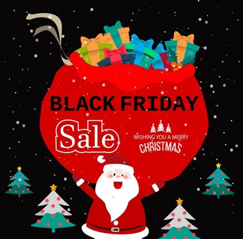 black friday banner christmas symbols decoration free