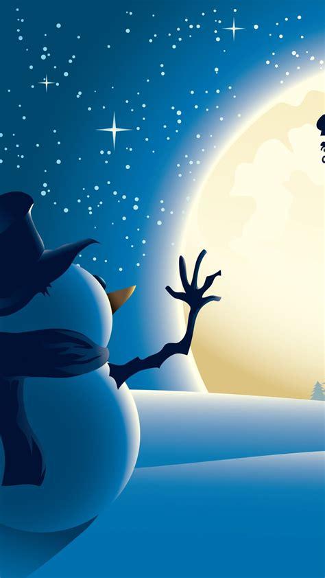 wallpaper christmas  year santa deer snowman moon winter  holidays