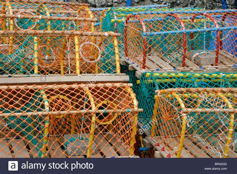 colorful lobster colourful lobster pots stock photos colourful lobster