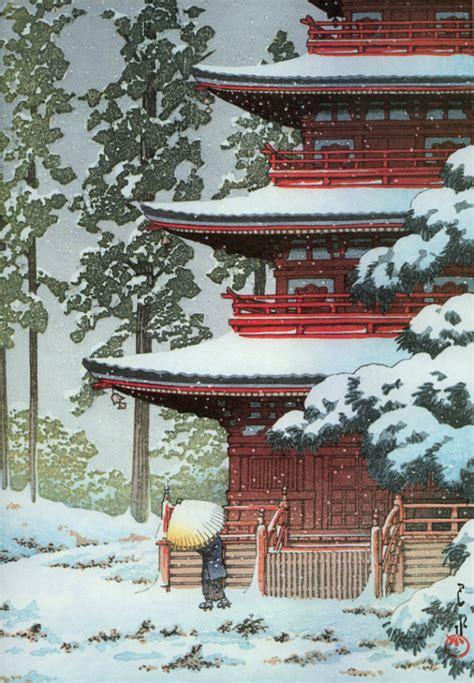 japanese prints ukiyo e in 0714124532 japanese woodblock prints ukiyo e with snow and winter dailyartdaily com