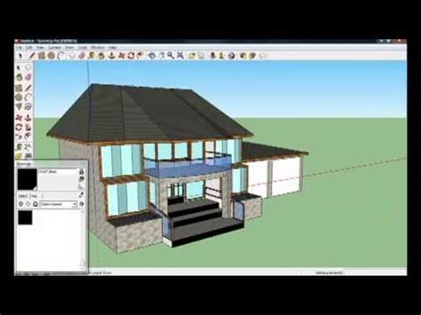 google sketchup tutorial part 2 google sketchup 8 house tutorial part 4 4 youtube