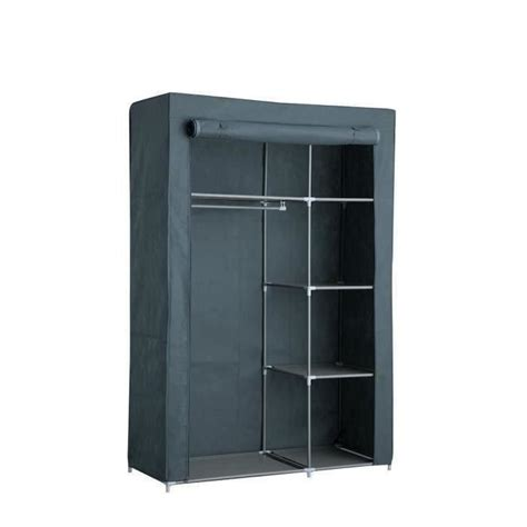 armoire en tissu but armoire penderie souple nomade 50 en tissu gris 105x45x158 cm achat vente penderie