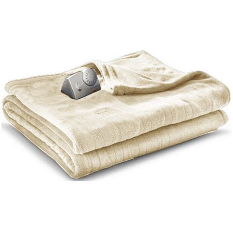 heated comforter biddeford microplush analog electric heated blanket twin