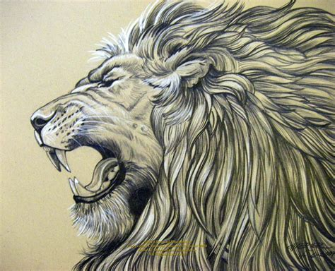 lion head tattoo design pencil drawings of jesus roar by houseofchabrier