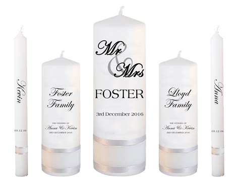 Wedding Font Set by Wedding Candle Set Deluxe Mr And Mrs Font 5