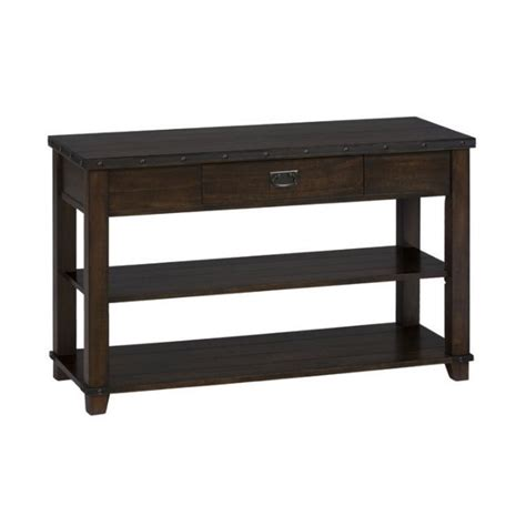 Tv Sofa Table by Jofran Sofa Table Tv Stand In Cassidy Brown Finish 561 4