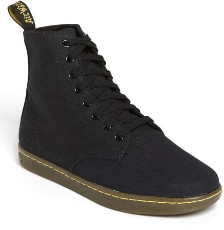 mens dr martens alfie boot dr martens alfie boot in black for black canvas lyst