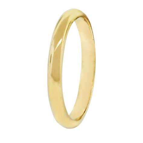 14k yellow gold thin wedding band ring