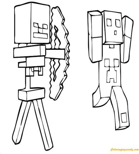minecraft creeper coloring page creeper minecraft coloring page free coloring pages