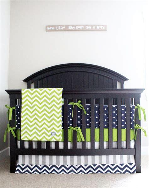 Navy Blue And Green Crib Bedding Baby Boy Crib Bedding Set Green Gray Navy Blue Nursery Polka Dot Bumper Pad Chevron Minky