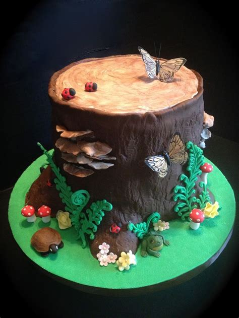 tree cake ideas woodland cake pin fondant tutorial woodland
