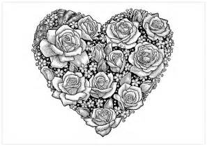 coloring pages for adults hearts free printable coloring pages roses coloring