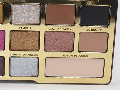 Faced Chocolate faced chocolate gold eyeshadow palette review
