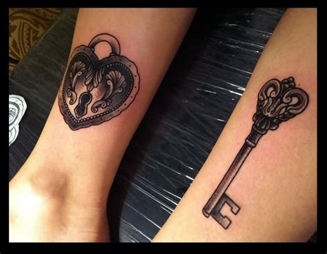 heart and lock tattoos for couples 27 awesome lock and key tattoos ideas