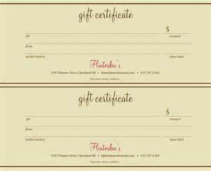 Restaurant Gift Certificate Template Free by Best Photos Of Gift Certificate Templates Gift