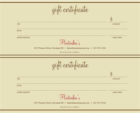 best photos of gift certificate templates gift