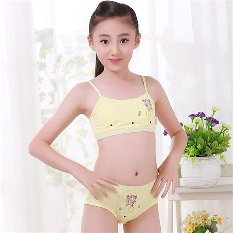 puberty in girls pantys 2017 new young girl underwear set training bras vest and