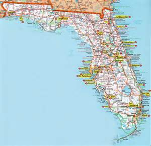 florida road map florida road maps