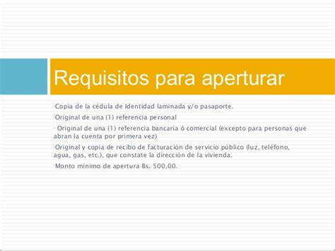 requisitos para abrir una cuenta de ahorros en banco de requisitos para abrir cuenta en el banco provincial en