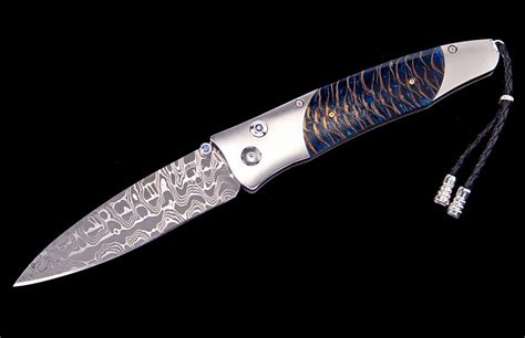 gentac b 30 pacifica damascus folding knife by william henry william henry knife william henry limited edition b30 pacifica knife