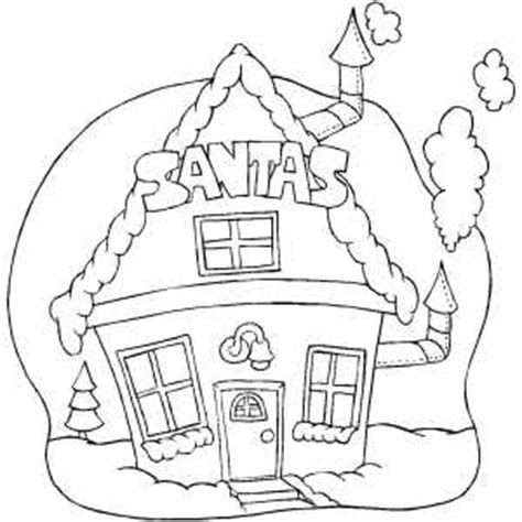 coloring pictures of santa workshop santa house coloring page