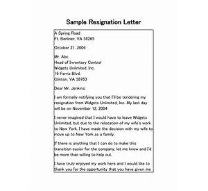 90 Resignation Letter Moving Out Of State
