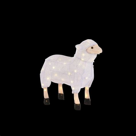 home accents holiday 22 in 60 light led tinsel sheep
