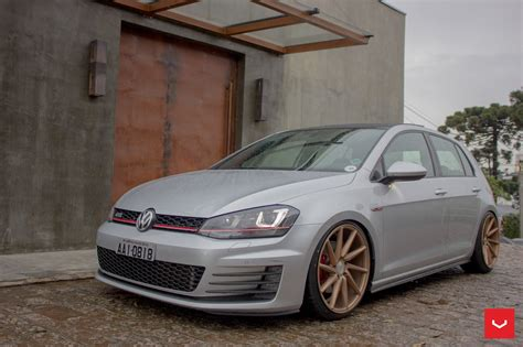volkswagen golf gti 2015 modified bronze cvt vossen rims adorning modified vw golf carid