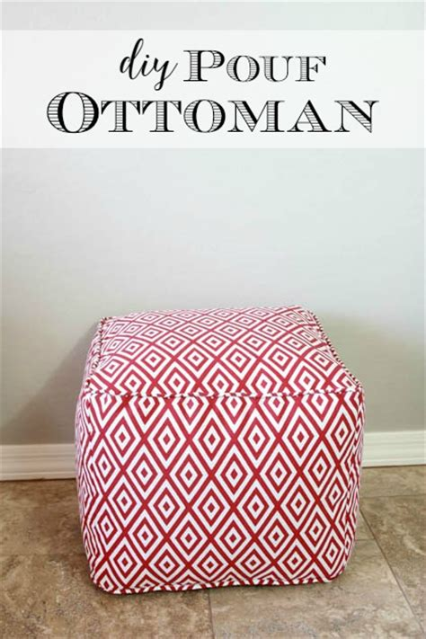 your own pouf ottoman diy pouf ottoman tutorial and lessons learned pretty