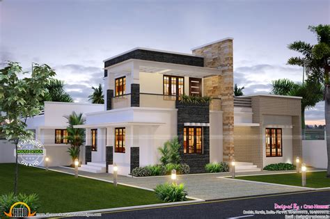 home designing cute contemporary home kerala home design and floor plans
