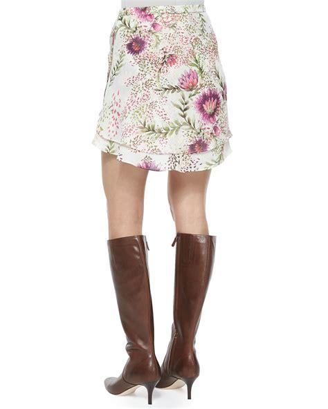 Flirty Skirts by Haute Hippie Floral Print Flirty Skirt Lyst