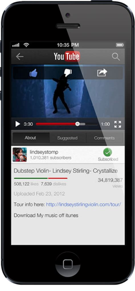 youtube ios layout youtube for ios updated with send to tv functionality