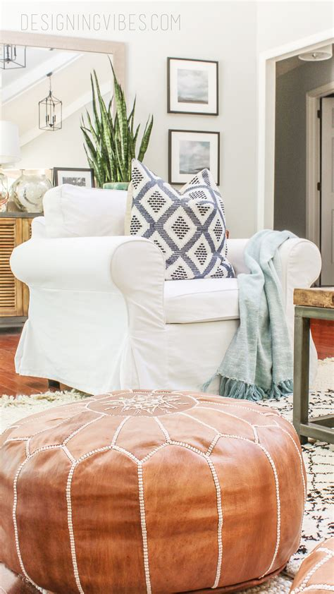 pouf ottoman diy how to buy leather moroccan poufs on the cheap boho