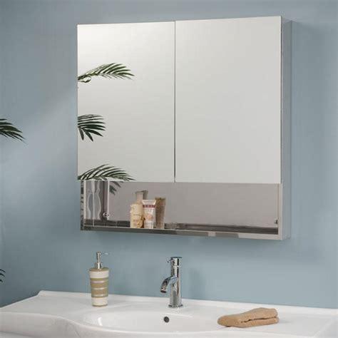 double medicine cabinet mirror dawson stainless steel double door medicine cabinet with