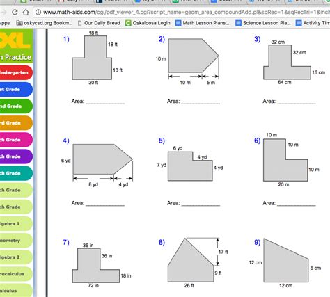 Area Of Irregular Shapes Worksheets by Area Of Irregular Polygons Worksheet Wiildcreative