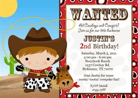 Ideas cowboy photo birthday invitations country style wedding