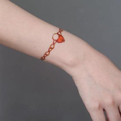 heartbeat tattoo bracelet heart bracelet sleeve temporary tattoo for girls woman