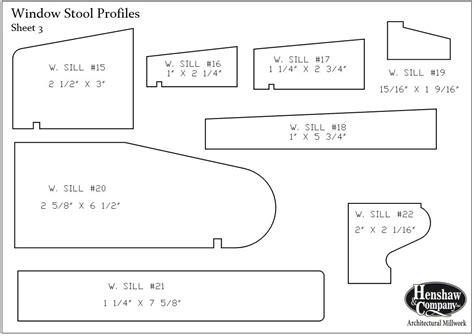 Wood Window Sill Profiles Window Stool Or Sills