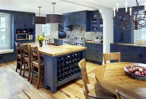 Blue Kitchens With White Cabinets home decor trend navy blue kitchen walls and cabinets