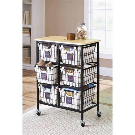 Kitchen Cabinet Liner 6 drawer rolling wire cart storage organizer shelf liner