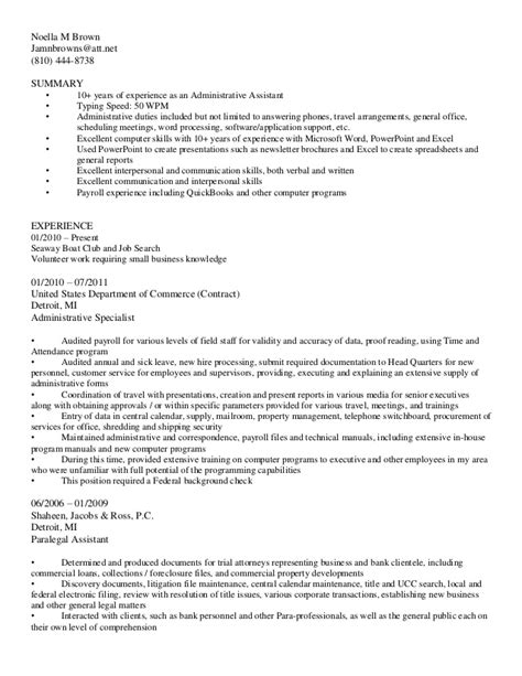 Resume Bullet Points Administrative Assistant Bullet Style Resume