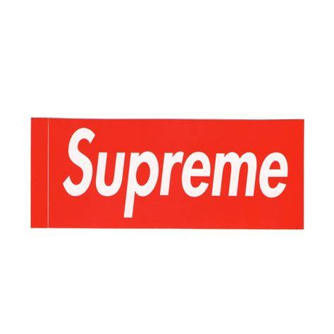 Supreme Stickers Box Logo Original 1 supreme box logo sticker get supreme