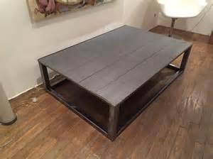 table basse design fer bois meubles et rangements par