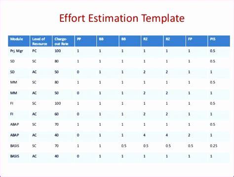 Sap Effort Estimation Template Excel 10 Effort Estimation Template Excel Exceltemplates Exceltemplates