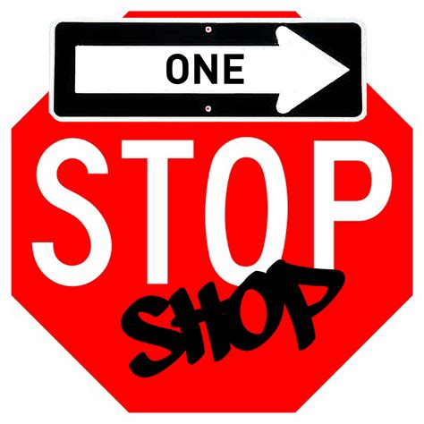 one stop bathroom shop stop sign logo clipart best