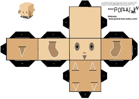 squre dog cubeecraft kid crafts pinterest