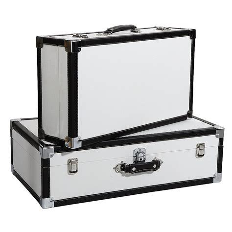 deko koffer 64 deko deko kofferset 2tlg wei 223 schwarz dekoration bei