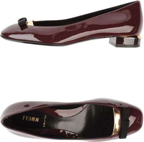 fendi flat shoes fendi ballet flats in purple lyst