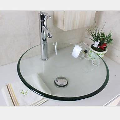 lavabo 30 x 30 cuba vidro redonda banheiro lavabo bancada 30x30 incolor